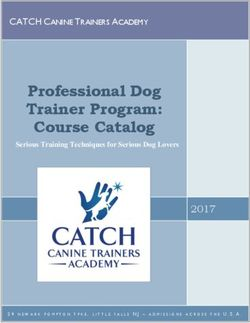 Professional Dog Trainer Program: Course Catalog 2017 - Catch Canine Trainers Academy