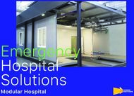 Emergency Hospital Solutions - Modular Hospital - Mangini Partitions