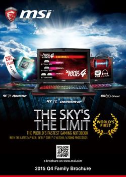 MSI 2015 Q4 Family Brochure