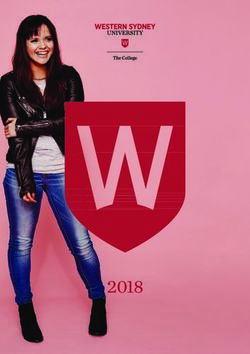 The College 2018 Course Guide - Western Sydney University