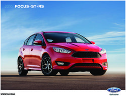 2016 Ford Focus+ST+RS Specifications