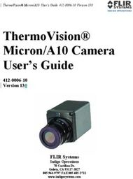 ThermoVision Micron/A10 Camera User's Guide