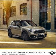 MINI COUNTRYMAN HYBRIDE RECHARGEABLE E-ALL4 - GAMME ET TARIFS. ...