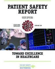 PATIENT SAFETY REPORT - TOWARD EXCELLENCE IN HEALTHCARE - COVID 19 - ...