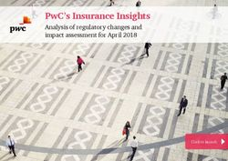 PWC'S INSURANCE INSIGHTS - ANALYSIS OF REGULATORY CHANGES AND IMPACT ASSESSMENT FOR APRIL 2018