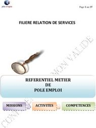FILIERE RELATION DE SERVICES
