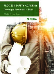 PROCESS SAFETY ACADEMY - Catalogue Formations - 2021 DEKRA Process Safety - ...