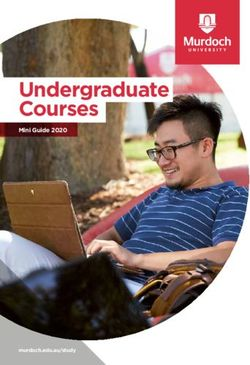 Undergraduate Courses - Mini Guide 2020 - Murdoch University