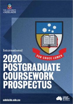 THE UNIVERSITY of ADELAIDE - INTERNATIONAL 2020 POSTGRADUATE COURSEWORK PROSPECTUS