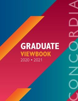 GRADUATE VIEWBOOK 2020 2021 - Concordia University