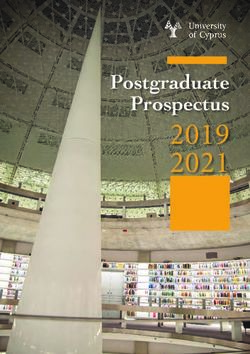 2019 2021 Postgraduate Prospectus - University of Cyprus