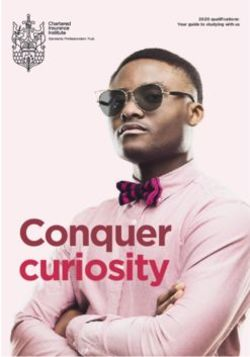 Conquer curiosity - Chartered Insurance Institute 2020