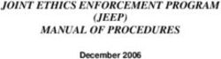 JOINT ETHICS ENFORCEMENT PROGRAM (JEEP) MANUAL OF PROCEDURES