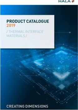 PRODUCT CATALOGUE 2019 / THERMAL INTERFACE MATERIALS