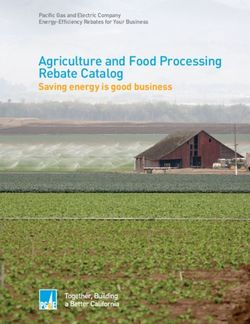 Agriculture and Food Processing. Rebate Catalog. Pacific Gas and Electric Company.
