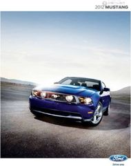 Ford Mustang 2012. Brochure.