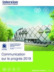 Communication sur le progrès 2019 - Interxion France