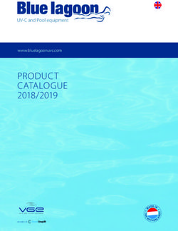 Blue lagoon - PRODUCT CATALOGUE 2018/2019 - UV-C and Pool equipment