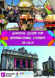 Survival Guide for international students in lille
