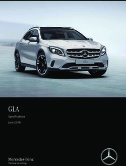 GLA - Specifications June 2018