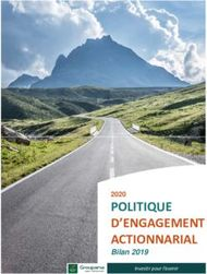 POLITIQUE D'ENGAGEMENT ACTIONNARIAL