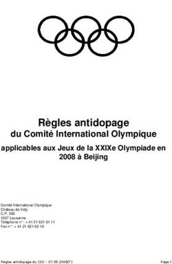 Règles antidopage - du Comité International Olympique