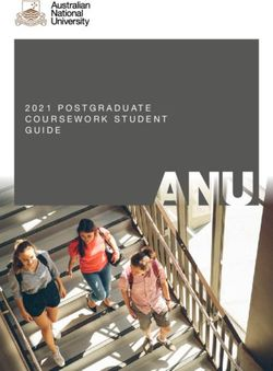 2021 POSTGRADUATE COURSEWORK STUDENT GUIDE - The Australian National University