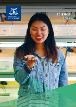 THE UNIVERSITY OF MELBOURNE - SCIENCE 2019