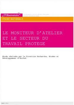 Le Moniteur D Atelier Et Le Secteur Du Travail Protege