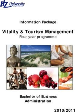 Vitality & Tourism Management