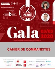 Cahier de commandites - Women in Governance