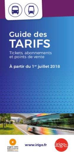 TARIFS - Guide des - Tickets, abonnements et points de vente