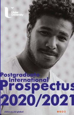 Postgraduate International Prospectus 2020/2021 - Ulster University