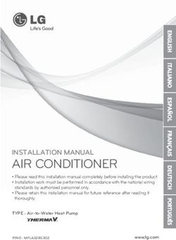 AIR CONDITIONER - INSTALLATION MANUAL