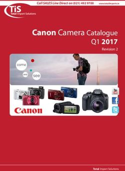 Canon Camera Catalogue - Q1 2017