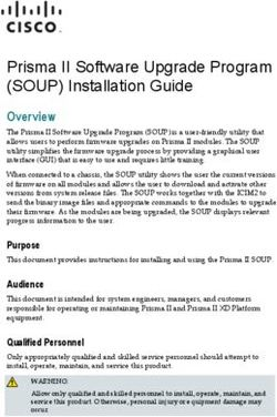 Prisma II Software Upgrade Program (SOUP) Installation Guide