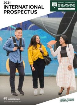 INTERNATIONAL PROSPECTUS 2021 - VICTORIA UNIVERSITY OF WELLINGTON