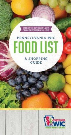 Pennsylvania WIC Food List & Shopping Guide October 2017 - September 2018