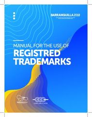 REGISTRED TRADEMARKS - MANUAL FOR THE USE OF