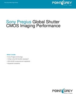 Sony Pregius Global Shutter CMOS Imaging Performance