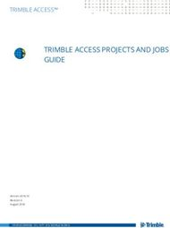 TRIMBLE ACCESS PROJECTS AND JOBS GUIDE