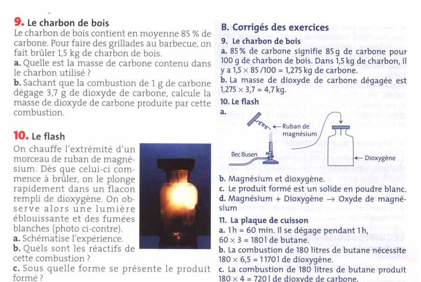 Physique chimie 4eme Chapitre 2 Combustion