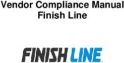 Vendor Compliance Manual Finish Line
