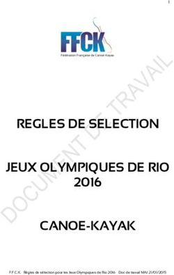 REGLES DE SELECTION