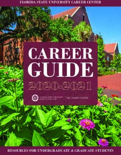 GUIDE CAREER 2020-2021 - FLORIDA STATE UNIVERSITY CAREER CENTER - RESOURCES FOR UNDERGRADUATE & GRADUATE STUDENTS