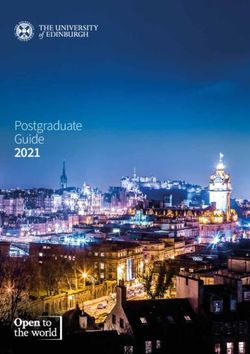 Postgraduate Guide 2021 - THE UNIVERSITY OF EDINBURGH