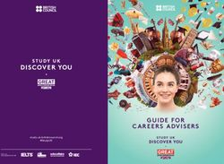 GUIDE FOR CAREERS ADVISERS 2020 - STUDY UK study-uk.britishcouncil.org