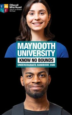 MAYNOOTH UNIVERSITY UNDERGRADUATE 2020