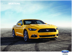 Ford Mustang 2016. Brochure.