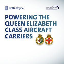 POWERING THE QUEEN ELIZABETH CLASS AIRCRAFT CARRIERS